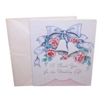 Unused 2950d Thank You Greeting Card with Envelope - To Thank You for the Wedding Gift
