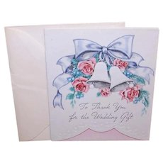 Unused Vintage 'To Thank You for the Wedding Gift' Greeting Card with Envelope
