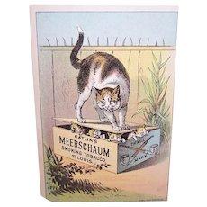 Catlin's Meerschaum Smoking Tobacco St Louis - Cat with Kittens - Victorian Trade Card