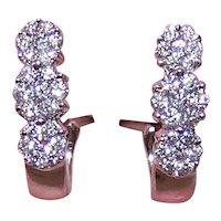 Sparkly 14K Gold .50CT TW Diamond Earrings - Pierced Earrings