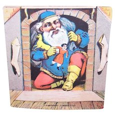 Santa Claus in the Chimney - Victorian Trade Card Greeting Card