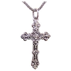 Sweet Sterling Silver Religious Cross Pendant | Catholic Cross Pendant