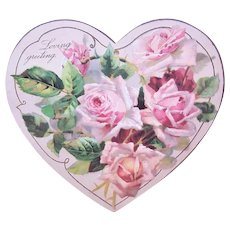 """2 Vintage 'Loving Greetings """" Gift Cards Greeting Cards by The Winslow Papers 