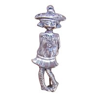 Mary Engelbreit Designs Sterling Silver Mary Jane Figural Pin - Little Girl