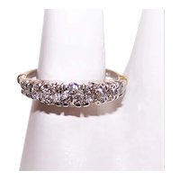 14K Gold .38CT TW Diamond Wedding Ring Wedding Band - Size 3.75
