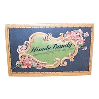 C.1910 Handy Dandy Needle Card Holding 50 Gold Eyed Needle Sharps - Violet Graphics