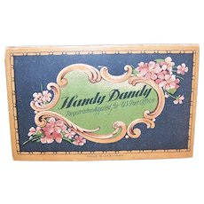 C.1910 Handy Dandy Needle Card Holding 50 Gold Eyed Needle Sharps - Violet Graphics