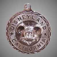 Walt Disney Productions Sterling Silver Mickey Mouse Disc Charm