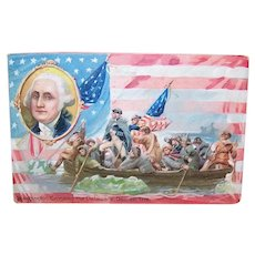 Raphael Tuck & Sons Postcard - George Washington Crossing the Delaware
