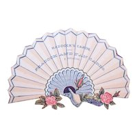 Haddocks Cards - Fan with Pink Roses and Hand - Victorian Trade Card