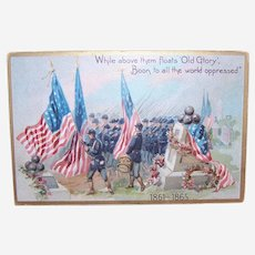 Raphael Tuck & Sons Unused Postcard - Decoration Day Series 107 - 1861 to 1865 Civil War Dead Remembrance