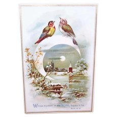 Victorian Chromolithograph Card - Religious, Bible Proverb, Reward of Merit