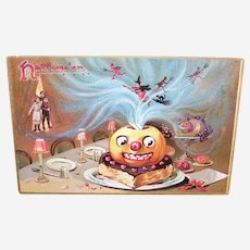 Raphael Tuck & Sons Postcard - Halloween Series No 150 - Pumpkin Witches Devils
