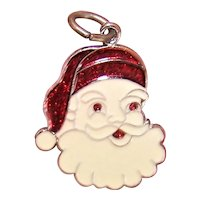 Spencer Co Sterling Silver Enamel Charm - Christmas Santa Claus