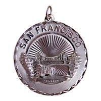 Crea Sterling Silver Round Disc Charm - San Francisco California