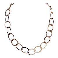 Sterling Silver Vermeil Open Link Chain Necklace