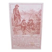 Strong's Arnica Jelly, The Great American Healer - Boys Fishing - Victorian Trade Card
