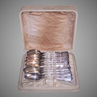 Boxed Set/12 Whiting Sterling Silver Teaspoons Louis XV Pattern