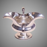 Frank W Smith Sterling Silver 2 Handled Gravy Boat Sauce Boat No Monogram