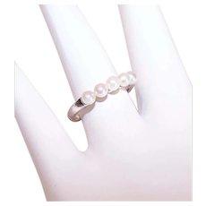 Mikimoto 14K Gold Cultured Pearl Fashion Ring