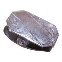 Art Deco Sterling Silver Clip - Tie Clip Paper Clip Pendant Clip