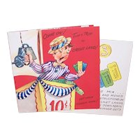Unused 1960s Get Well Greeting Card for a Child - Circus Land - Play the Circus Game and Time Will Pass as You Recover