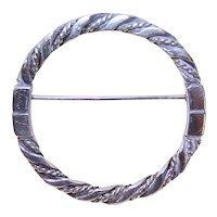 Georg Jensen Denmark Sterling Silver Eternity Pin Design 254
