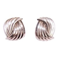 Christian Dior Couture Sterling Silver Pierced Earrings
