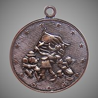 1976 Walt Disney Productions Sterling Silver 4th of July Band Parade Disc Charm