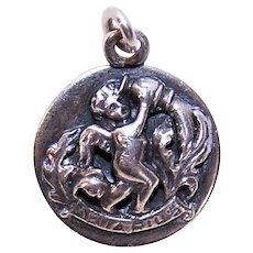 Cini Sterling Silver Charm - Aquarius the Water Bearer Zodiac Sign