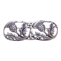 Danecraft Sterling Silver Pin Brooch - Scottish Thistles