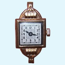 Art Deco Made in Japan Rose Gold Metal Watch for a Doll | Just Add Elastic and Size to Fit