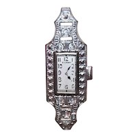 Art Deco Made in Japan Silver Tone Metal Watch for a Doll | Just Add Elastic and Size to Fit