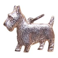 Paye & Baker Sterling Silver Vermeil Charm - Scottish Terrier Scotty Dog Scottie