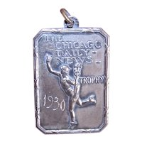 13th Place Sterling Silver Trophy Medal for 1930 Chicago Daily News Road Race