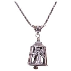 Sterling Silver Pendant - Tinkly Bell with 4 Angels | Lovely Gift Idea for Christmas