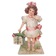 "Antique Raphael Tuck & Sons 9.25"" Valentines Day Card 