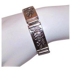 Danecraft Sterling Silver Link Bracelet - Stunning Roses Design