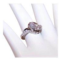 Sterling Silver Cubic Zirconia CZ 'Moi et Toi' Engagement Ring | SJD Designs  | Size 5