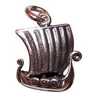 Sterling Silver Charm - Scandinavian Viking Ship