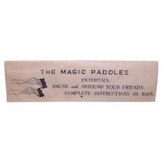 Unused 1950s Made in Japan 'Jumping Peg Trick' in Original Package - The Magic Paddles