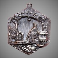 HTF Large Beau Sterling Silver 3D Disneyland Disc Charm