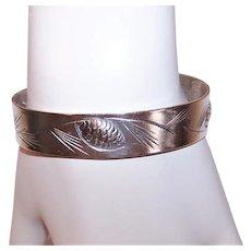 Stuart Nye Sterling Silver Cuff Bracelet - Winter Pine Cone Design