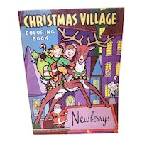 Vintage Unused C.1965 Newberrys Five & Dime - Christmas Village Coloring Book for a Child