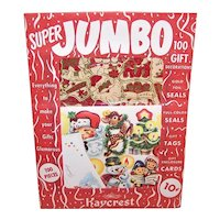 Vintage Kaycrest Super Jumbo 100 Christmas Gift Decorations in Unopened Package | Seals Gift Tags and Cards