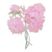 Vintage Millinery (Ladies Hat) Embellishment - 4 Stems of Pale Pink Organza Chrysanthemums | Original Price Tag of .29