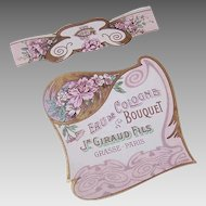ART NOUVEAU Label - French, Eau de Cologne, Label, Neck Band