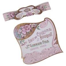 French Art Nouveau Cologne Label