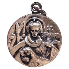JCC Sterling Silver Religious Medal or Charm - Saint Bernard of Montjoux