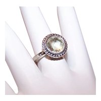 Pandora Sterling Silver Crystal Fashion Ring | Retired Design | Size 6.75